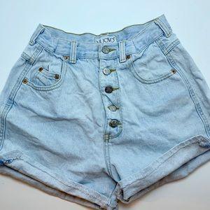 "Vintage high waisted ""mom"" jean shorts"